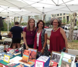 Connie, Anjuli, Barbara at Brooklyn Book Fair