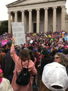 Marchers by National Gallery Women's March